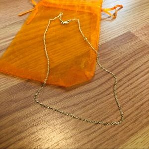"""14K gold cable chain 16"""""""